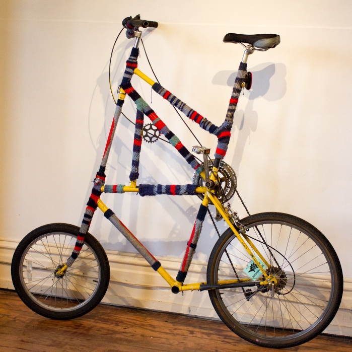 Yarn-Bombed Tall Bike