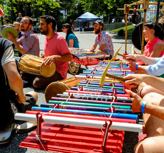 Gamelan Bike Bike - Maker Faire Peformance